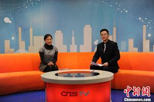 中国康复研究中心呼吸内科主任赵红梅做客中新网视频访谈间。中新网 张龙云 摄