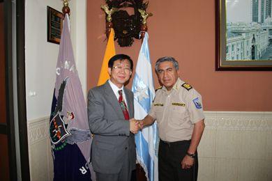瓜亚基尔/巴拉莱索对雷总领事到瓜亚基尔履新表示热烈欢迎,并高度赞扬...