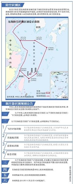 中国政府23日发表声明,宣布划设东海防空识别区,并发布航空器识别规则公告和识别区示意图。