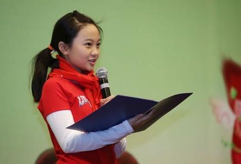 林妙可代表全国少年儿童发言