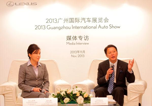雷克萨斯国际新款CT200h总工程师加古慈&雷克萨斯中国执行副总经理江积哲也