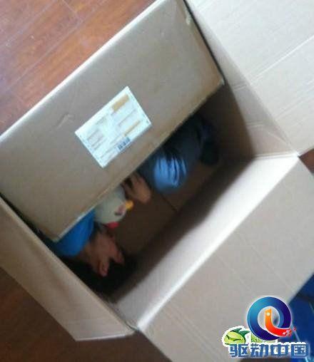 装在箱子里的美女;