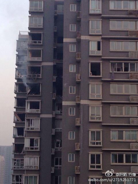 西安一高层住宅发生爆炸 造成1人死亡7人受伤图片