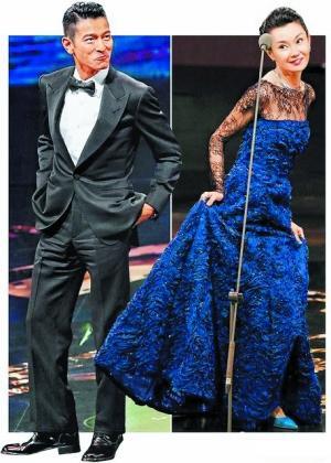 刘德华张曼玉颁奖时的收视率排名第3。