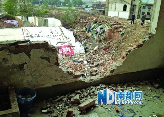 遭到强拆的房屋。