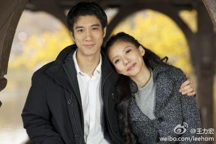 王力宏和女友合影