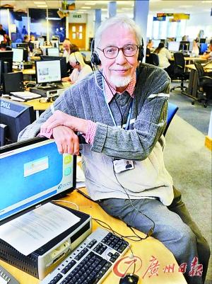 这名英国老人仍在工作。