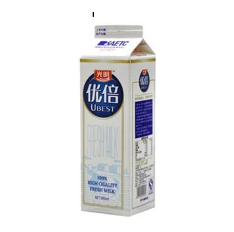 光明牛奶优倍 感受鲜牛奶的香醇