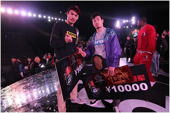 Popping冠军大秉与Breaking冠军久龙是同摘单项赛桂冠的上海赛区选手