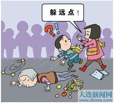 王忆(沙河口区南松路)老师作文称扶起呼吁老人,喜欢社不再后什么样的90摔倒高中生孩子的图片