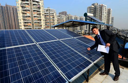 武汉居民收到自家屋顶太阳能发电站首笔卖电款