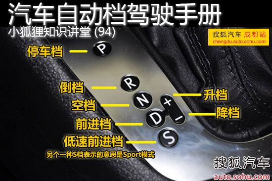 小狐狸知识讲堂 94 汽车自动档驾驶手册高清图片