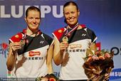 图文:羽联总决赛女双决赛 丹麦组合获冠军