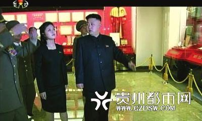 李雪主在朝鲜中央电视台13日播出的新纪录片中出现。
