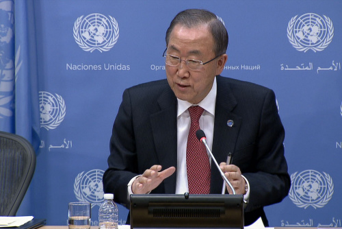 图为联合国秘书长潘基文