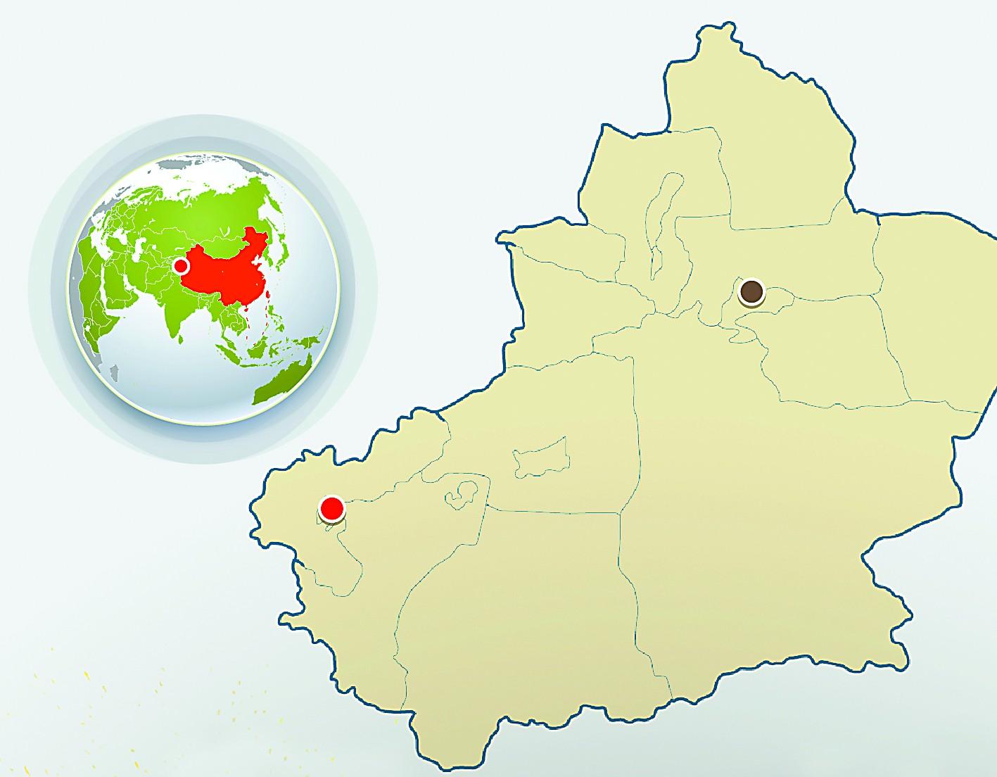 中亚地图手绘简图