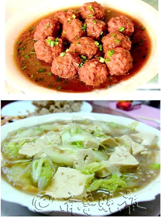 红烧狮子头被换成了白菜豆腐汤