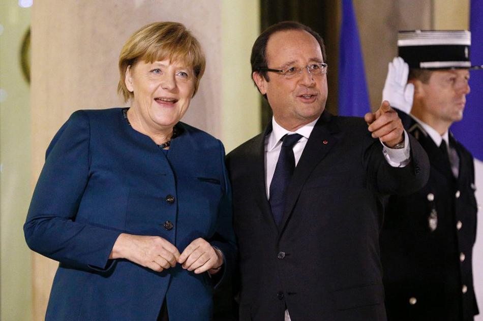 默克尔出访法国与奥朗德会面 欲开启两国关系