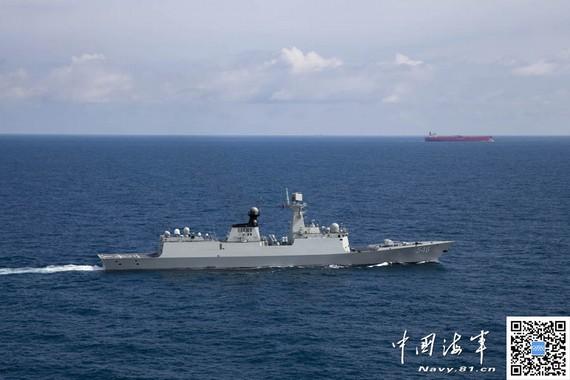 中国军舰首进地中海护航 协助叙销毁化武海运