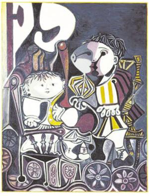 小孩 毕加索图片 毕加索两个小孩 保健寺毕加索微博高清图片