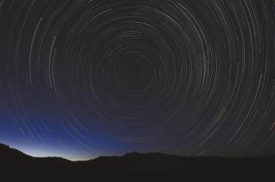 小熊座流星雨夜空绽放图片