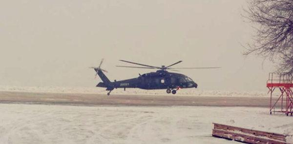原文配图:疑似我最新军用直升机首飞成功。
