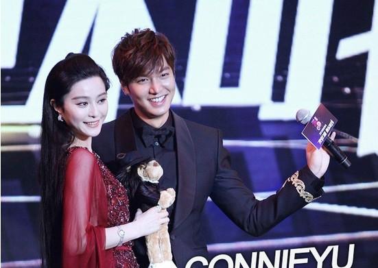 对(图)当日的颁奖典礼上云集成 刘诗诗等中华圈影视巨星,李敏镐
