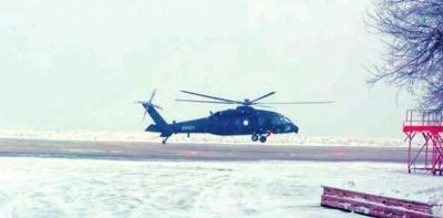 10吨级通用直升机首飞。央视截屏