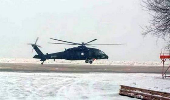 网上流传的我最新直-20型军用直升机首飞照片