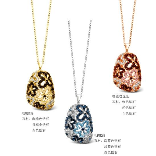 """珠宝设计师刘斐推荐:floret""""花语""""吊坠"""