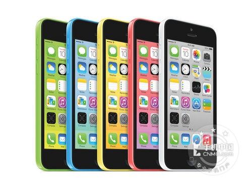 图为:苹果 iPhone 5C正面