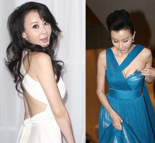 """王祖贤/曾经是""""台湾第一美女""""的萧蔷,花瓶女星的身材资本仍旧不差,..."""