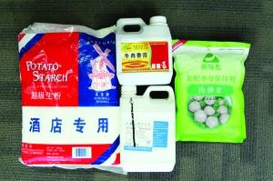 市场上买的火锅肉丸大都添加了这些添加剂 现代快报记者 李雨泽 摄