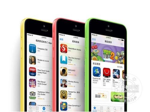 图为:苹果iPhone 5C 手机