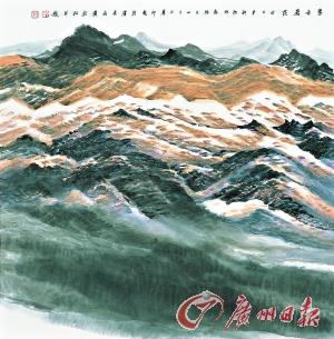 许钦松 《暮色苍茫》 (中国画) 68cmx68cm