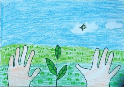 幼儿植树绘画作品