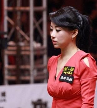 潘晓婷vs奥沙利文 山东赛场对决美女成焦点 图图片