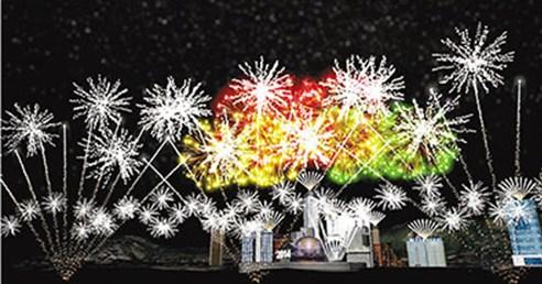 """维港12月31日晚将上演历时8分钟、历来最大规模的海陆空""""烟火音乐汇演"""",与港人一同迎接2014年。来源 香港《文汇报》"""