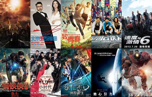 美媒评2013中国电影票房10强 称已能对抗好莱坞