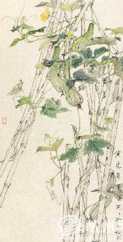 陈福彬2013年作品 《黄花翠蔓》