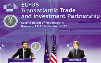 2013年11月11日,欧盟与美国第二轮TTIP(跨大西洋贸易与投资伙伴协议)谈判在欧盟总部布鲁塞尔正式重启