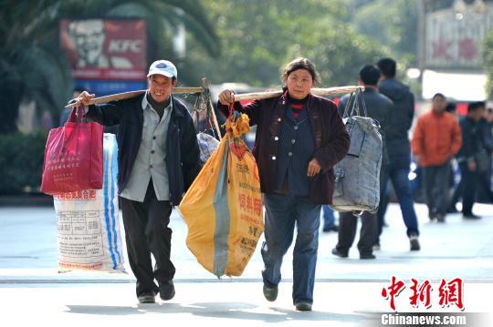 福州外来工避春运提前返乡(图)