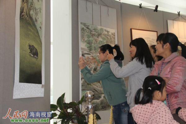 第二届海南省中国画写生作品展在昌江开幕