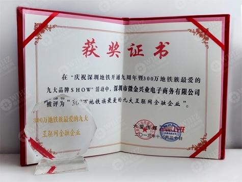 获奖证书与水晶奖杯