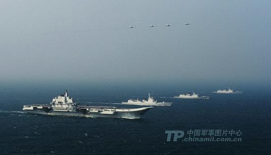 中国航母编队规模已接近美军