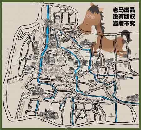 后面附上丽江手绘地图