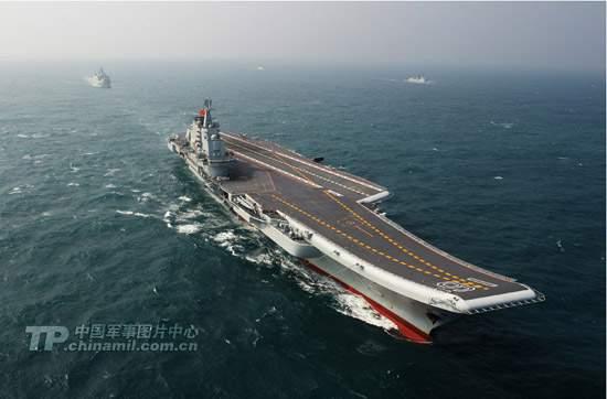 资料图:中国第一艘航空母舰辽宁舰顺利完成为期37天的南海海域科