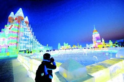 """哈尔滨国际冰雪节""""光彩""""启幕(组图)图片"""