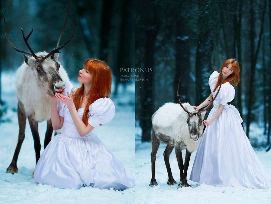 主人与马舌吻视频_俄美女为cosplay考驯兽师执照 雪地与熊舌吻(高清组图