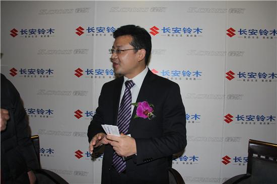 上市会后孙长松先生接受媒体采访